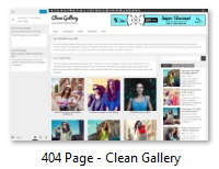404 Page - Clean Gallery