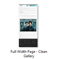 Full Width Page - Clean Gallery