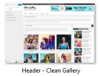Header - Clean Gallery