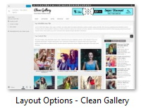 Layout Options - Clean Gallery