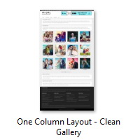 One Column Layout - Clean Gallery
