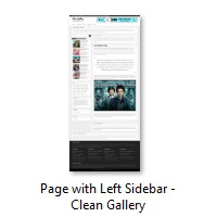 Page with Left Sidebar - Clean Gallery
