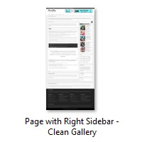 Page with Right Sidebar - Clean Gallery
