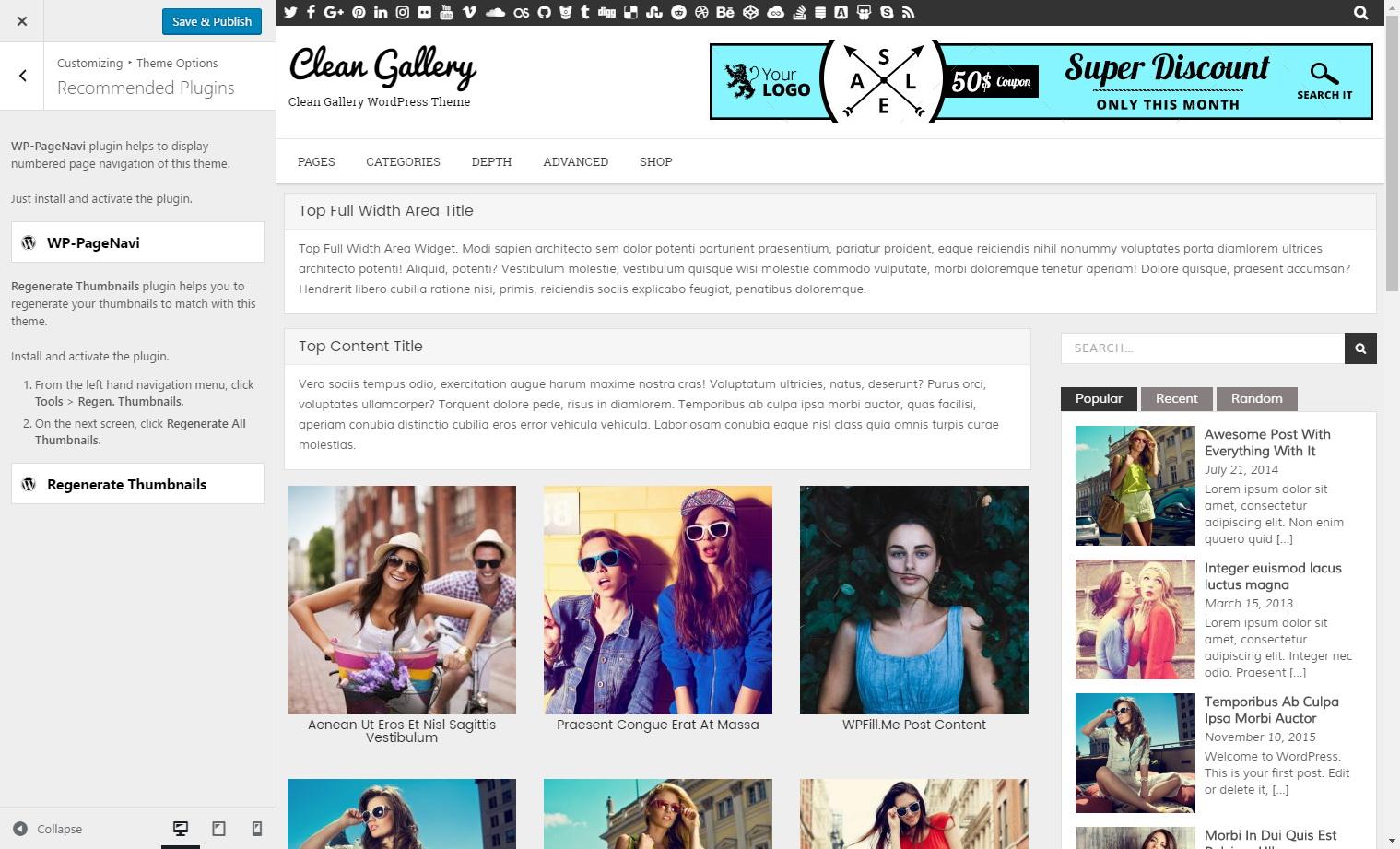 Clean Gallery PRO WordPress Theme - ThemesDNA com