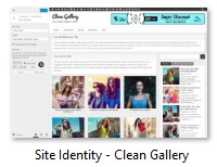 Site Identity - Clean Gallery
