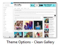 Theme Options - Clean Gallery