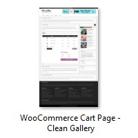 WooCommerce Cart Page - Clean Gallery
