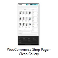 WooCommerce Shop Page - Clean Gallery