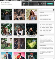 Clean Gallery WordPress Template