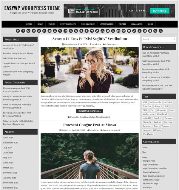 EasyWP WordPress Theme