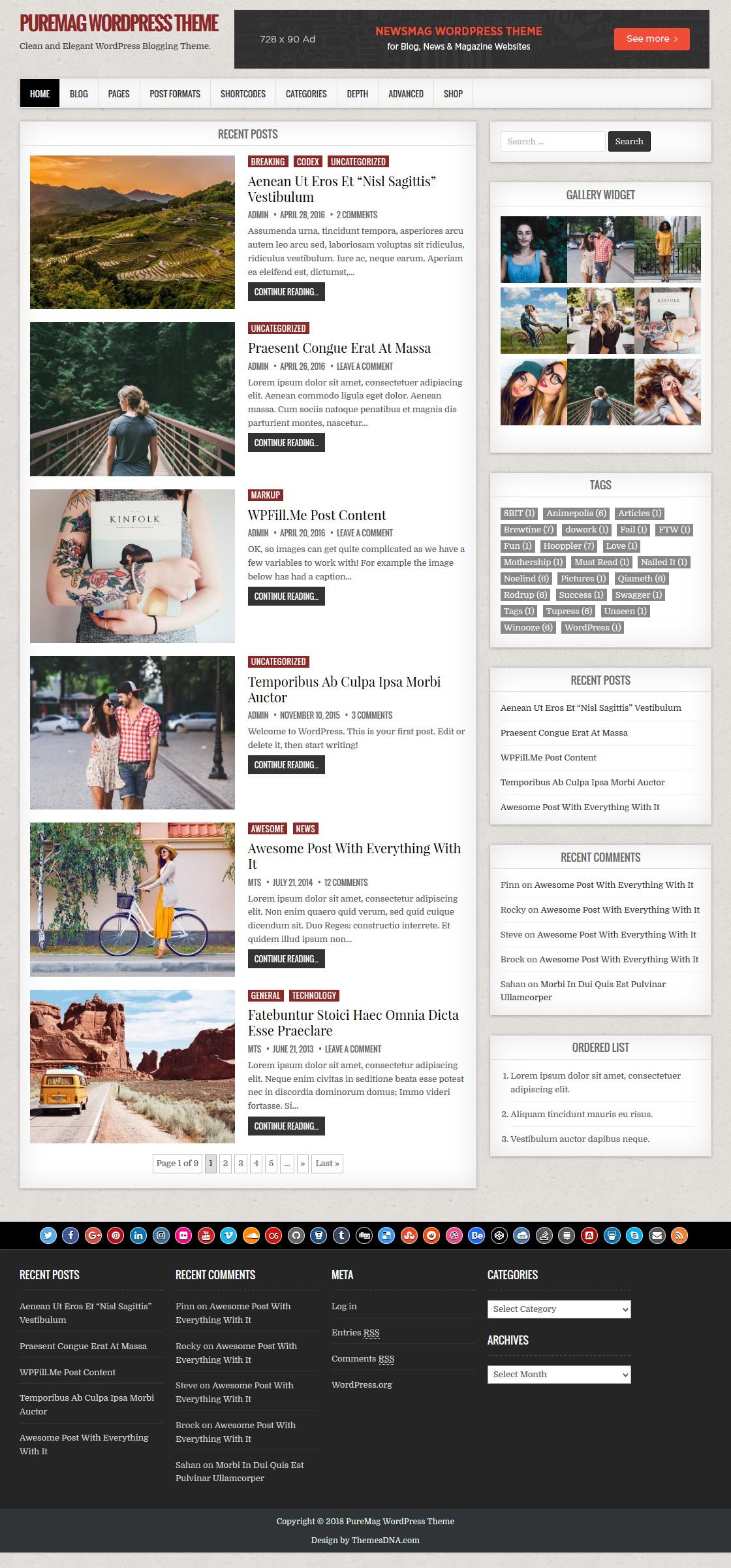 PureMag WordPress Theme - ThemesDNA.com