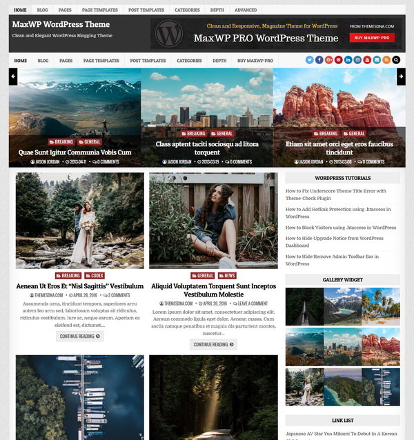 Maxwp Wordpress Theme Themesdna Com