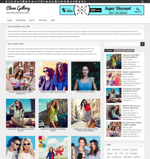 Clean Gallery WP Theme